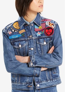 Levi's Limited Ex-Boyfriend Patched Cotton Denim Trucker Jacket, Created for Macy's