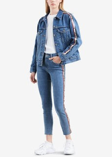 Levi's Limited Cotton Logo-Tape Denim Jacket, Created for Macy's