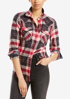 Levi's Cotton Vintage Plaid Western Shirt