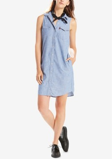 Levi's Cotton Sleeveless Western Shirtdress