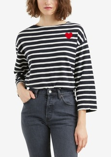 Levi's Cotton Striped Heart-Graphic T-Shirt