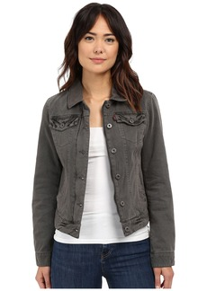 Levi's® Cotton Twill Laydown Collar Zip Front Trucker