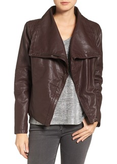 Levi's® Cowl Neck Faux Leather Jacket