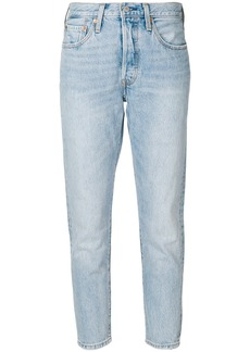 Levi's cropped faded jeans - Blue