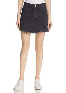 Levi's Deconstructed Denim Mini Skirt in Gimme Danger