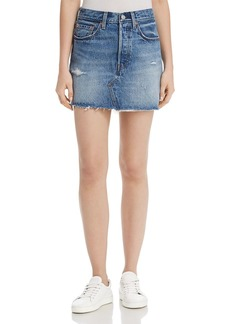 Levi's Deconstructed Denim Mini Skirt in Hole in One