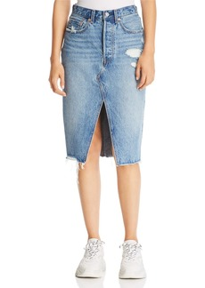 Levi's Deconstructed Denim Skirt in Original Sinner