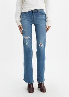Levi's Distressed Curvy Bootcut-Leg Jeans