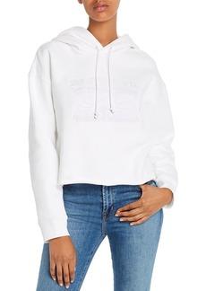 Levi's Embroidered Fleece-Lined Raw-Hem Hoodie