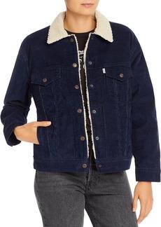 Levi's Ex-Boyfriend Corduroy Sherpa-Lined Trucker Jacket
