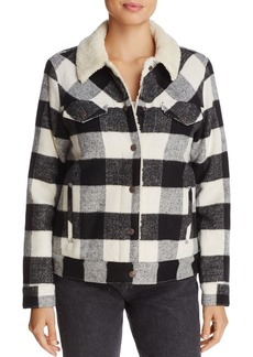 Levi's Ex-Boyfriend Plaid Trucker Jacket