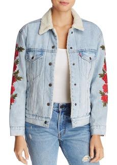 Levi's Ex-Boyfriend Trucker Denim Jacket with Embroidery