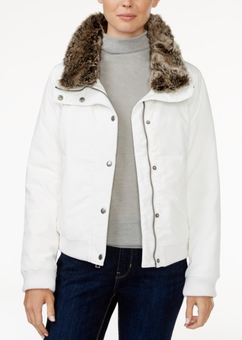 Levi's Faux-Fur-Trim Bomber Jacket