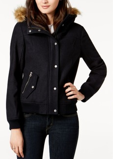 Levi's Faux-Fur-Trim Hooded Jacket