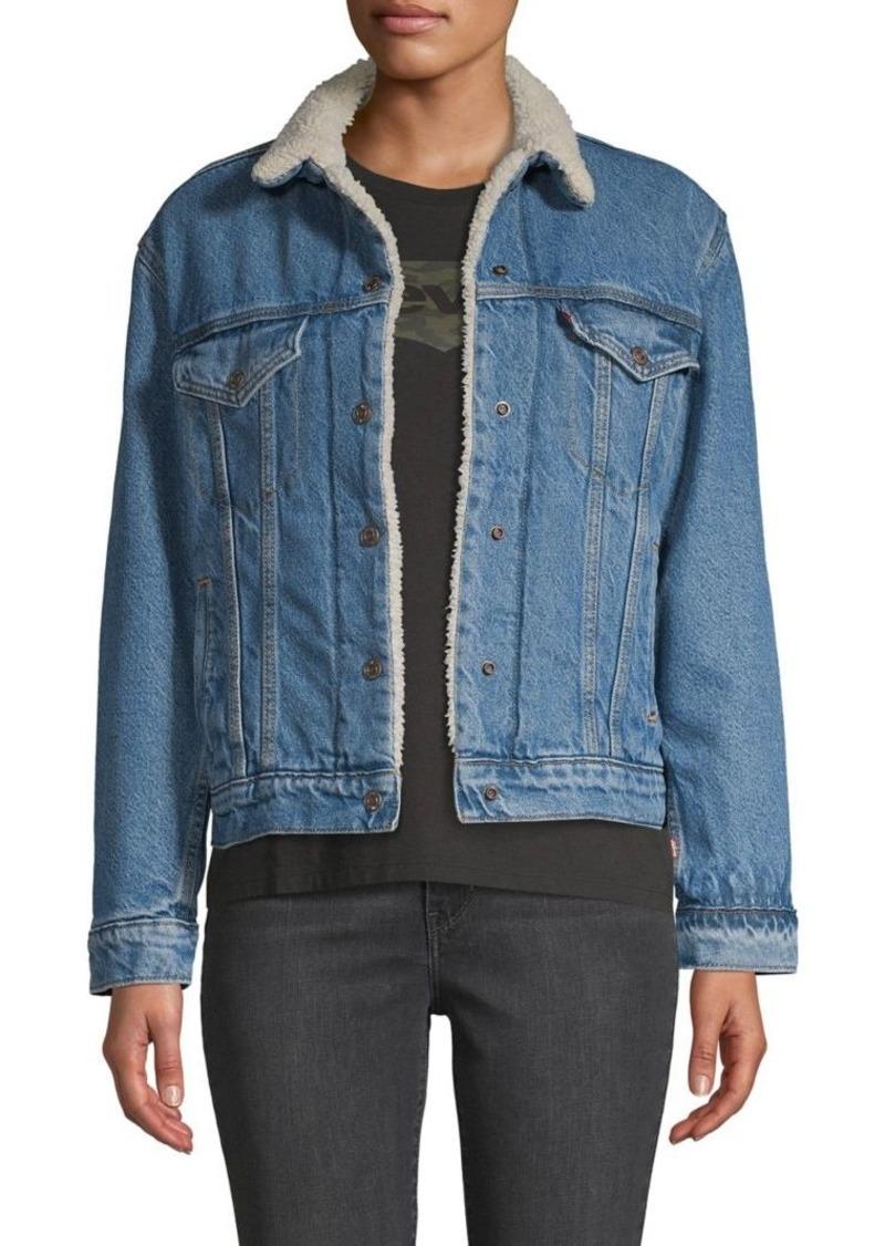 Levi's Faux Fur-Trimmed Denim Jacket