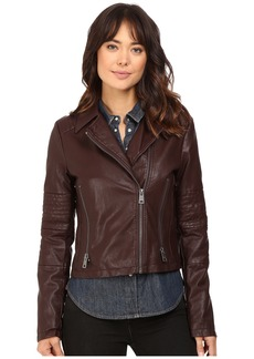Levi's® Faux Leather Asymmetrical Motorcycle Jacket with Quilted Arms