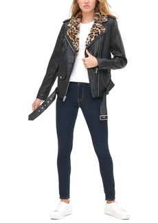 Levi's Women's Faux-Leather Biker Jacket