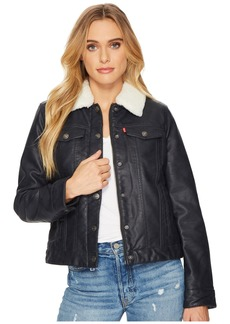 Faux Leather Buff Cow Jacket