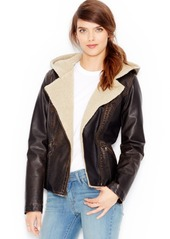 Levi's Faux-Leather Hooded Moto Jacket