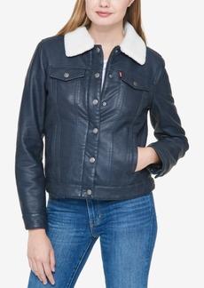 Levi's Faux-Leather Trucker Jacket