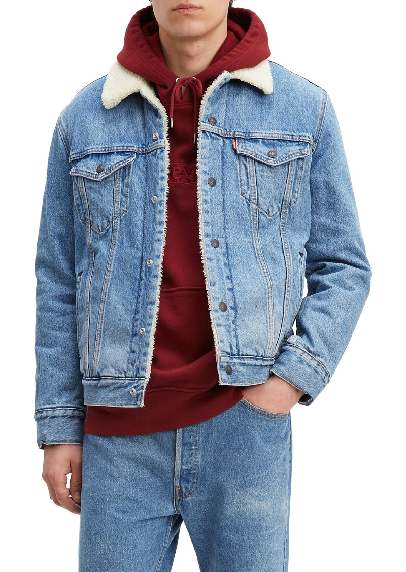 Levi's® Faux Shearling Lined Denim Trucker Jacket with Jacquard™ by Google