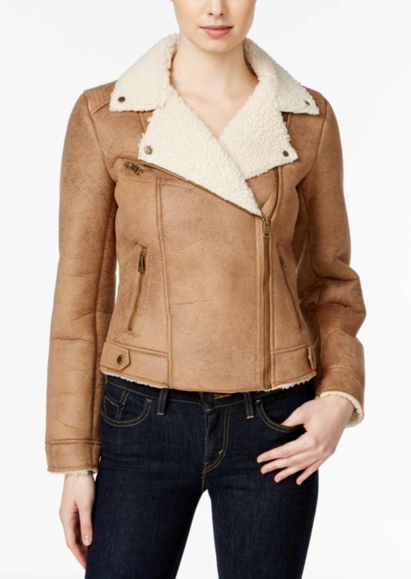 Levi's Faux-Shearling Moto Jacket