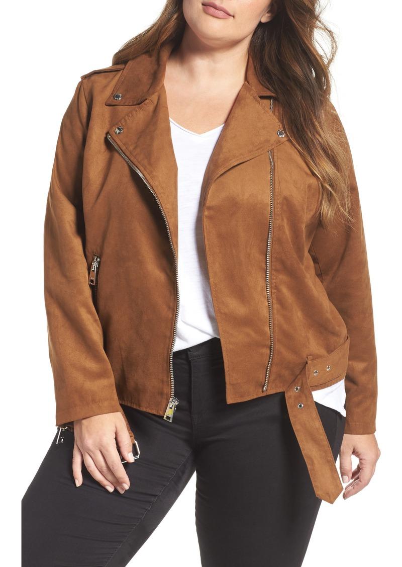 d6bf016671d Levi s LEVIS® Faux Suede Moto Jacket (Plus Size)