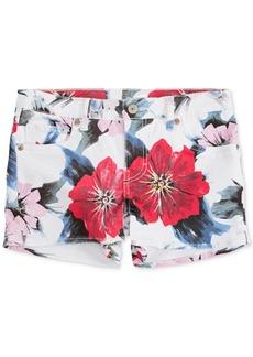 Levi's Floral-Print Jet Set Shorty Shorts, Big Girls