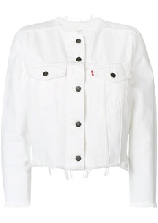 Levi's frayed denim jacket - White