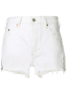 Levi's frayed denim shorts - White