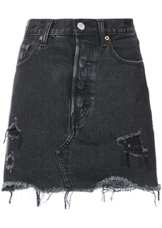 Levi's frayed denim skirt