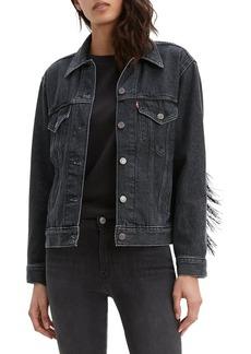 Levi's Fringe-Trimmed Denim Jacket
