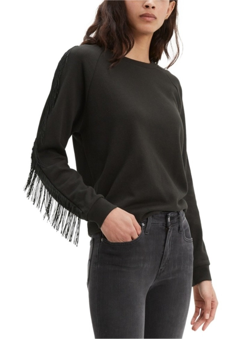 Levi's Women's Fringed Crewneck Sweatshirt