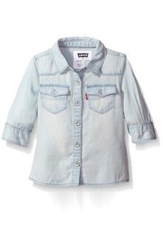 Levi's Girls' 3/4 Sleeve Western Shirt