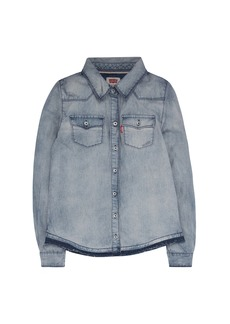 Levi's Girls' Big Denim Long Sleeve Western Shirt  XL