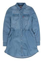 Levi's Girls' Big Long Sleeve Western Dress  M