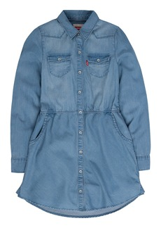 Levi's Girls' Big Long Sleeve Western Dress  M