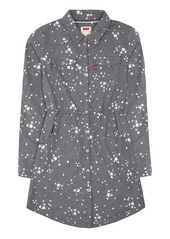 Levi's Little Girls' Long Sleeve Fit and Flare Western Shirt Dress