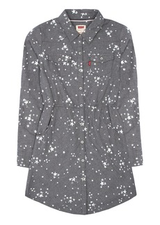 Levi's Little Girls' Long Sleeve Heathered Flannel Dress