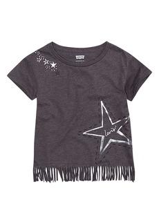Levi's Girls' Toddler Fringe Hem Graphic T-Shirt