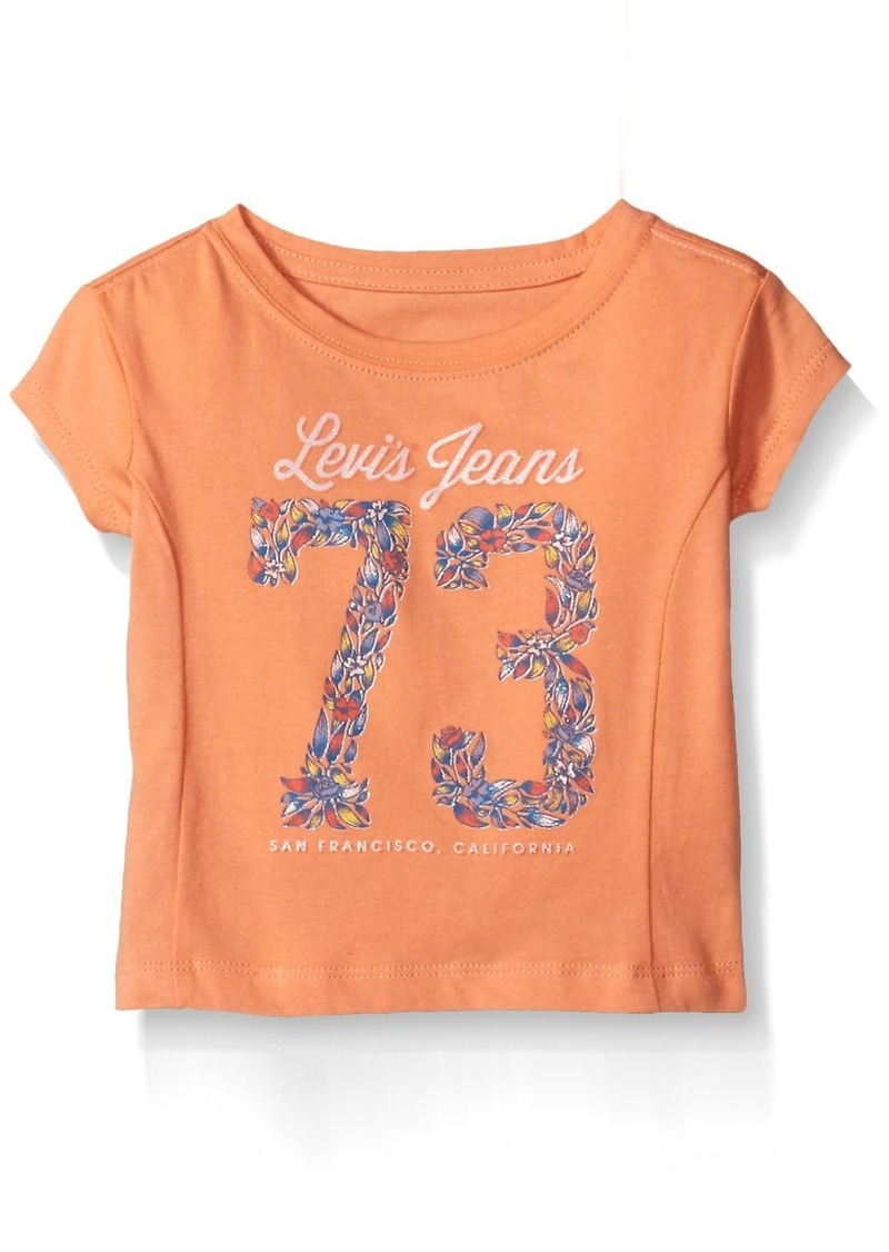 Levi's Girls' Toddler Short Sleeve Boxy Graphic Tee  2T