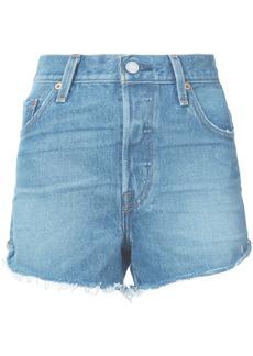 Levi's high waisted denim shorts - Blue