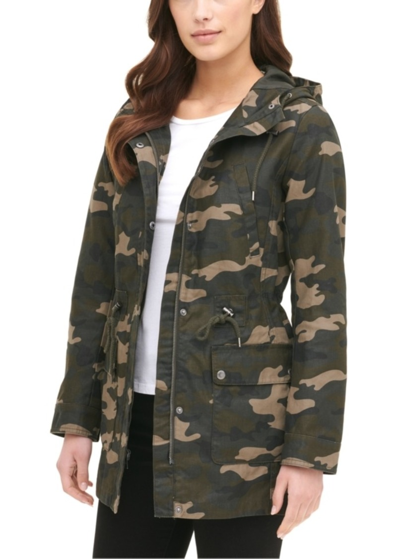 Levi's Women's Printed Cotton Hooded Jacket