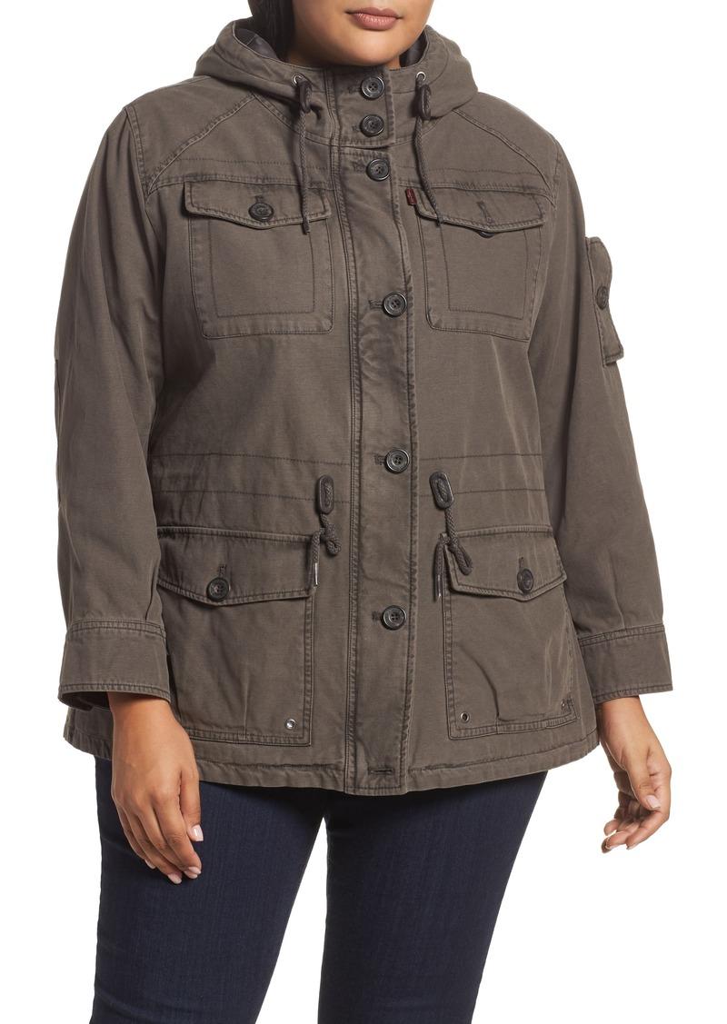 3faf7562a9c Levi s Levi s® Hooded Cotton Utility Jacket (Plus Size)