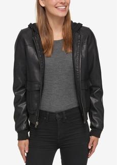 Levi's Hooded Faux-Leather Bomber Jacket