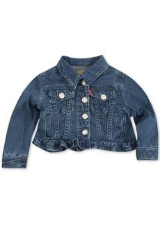 Levi's Infant Girls Ruffle Trim Denim Trucker Jacket
