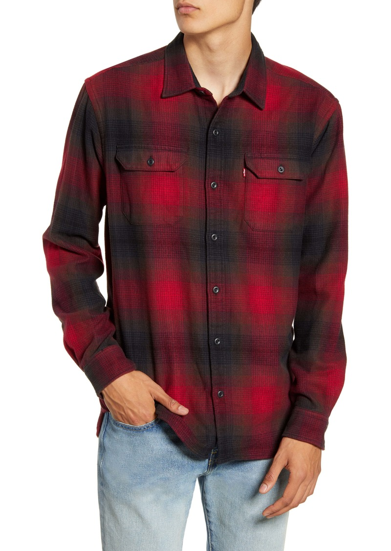 Levi's® Jackson Slim Fit Check Button-Up Flannel Shirt
