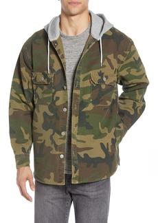 Levi's® Jackson Regular Fit Hooded Camo Overshirt