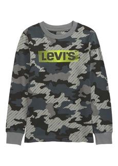 Levi's® Kids' Camo Print Long Sleeve Graphic Tee (Little Boy)