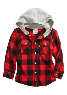 Levi's® Kids' Hooded Buffalo Check Shirt Jacket (Little Boy)